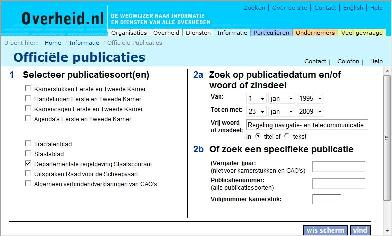 Publicaties Staatscourant